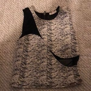 Black white cutout shirt.. from urban outfitters
